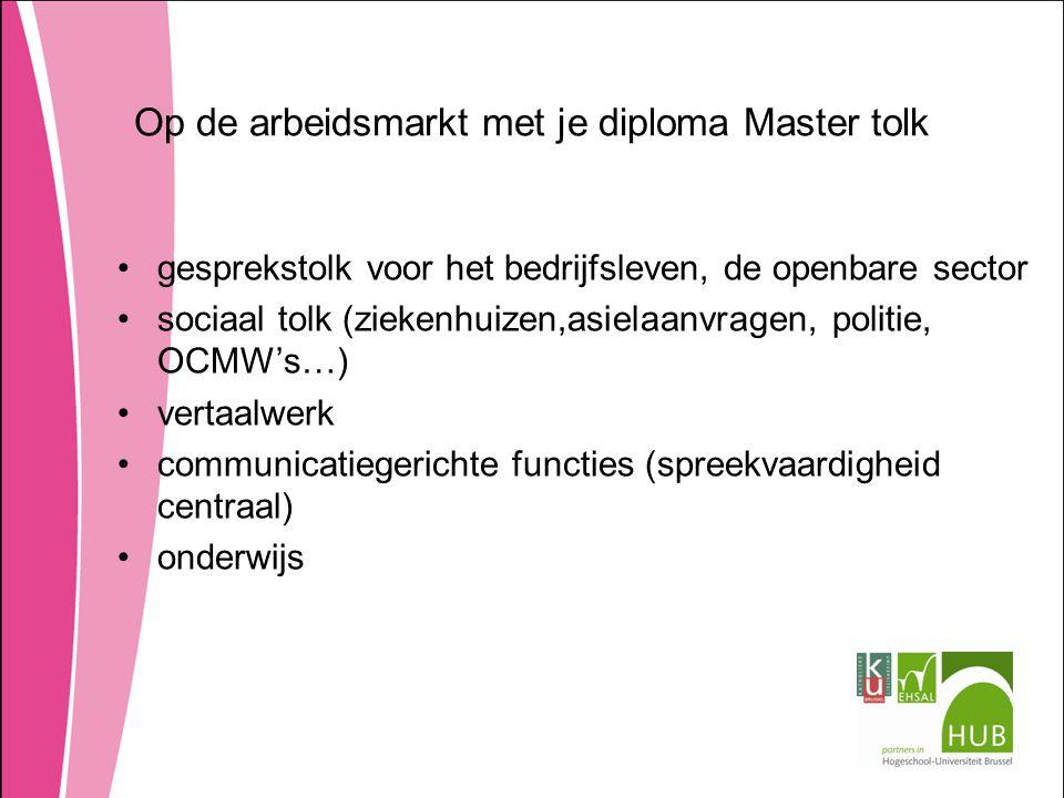 Op de arbeidsmarkt met je diploma Master tolk