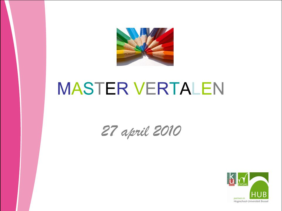 MASTER VERTALEN 27 april 2010