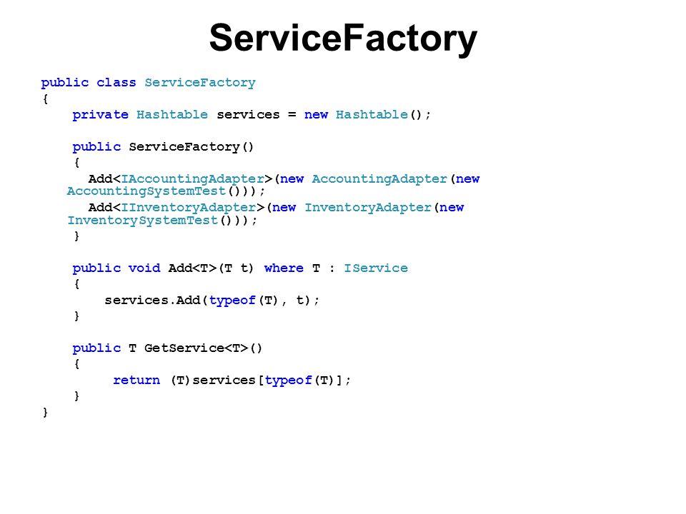 ServiceFactory public class ServiceFactory {