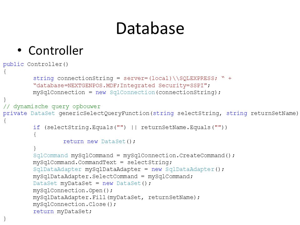 Database Controller.