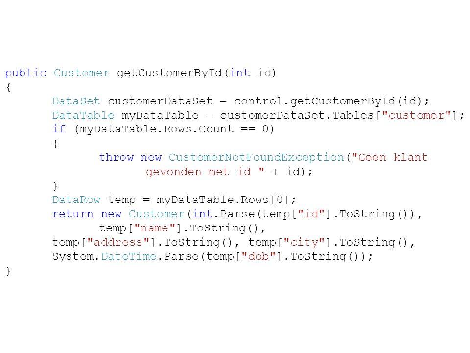 public Customer getCustomerById(int id) {