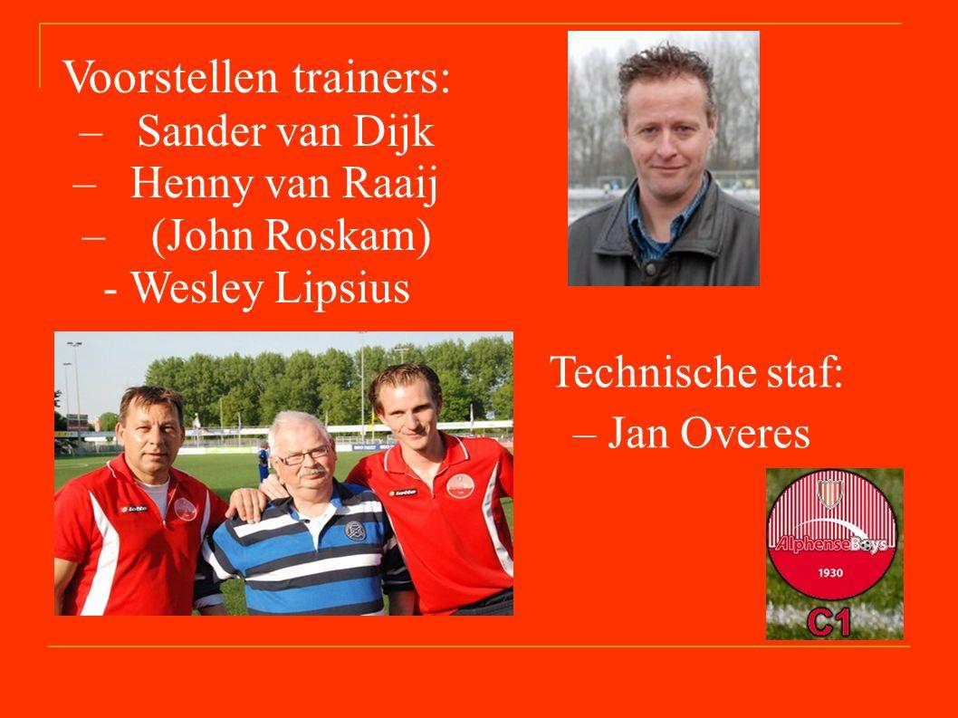 Voorstellen trainers: – Sander van Dijk – Henny van Raaij