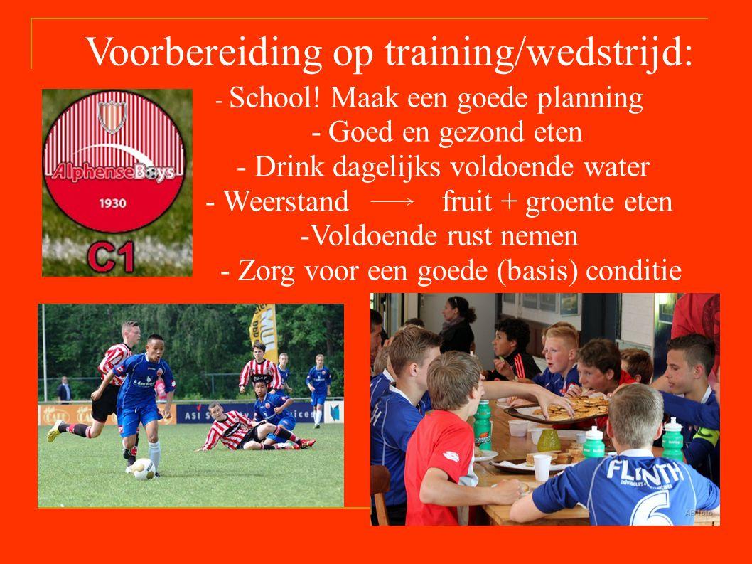 Voorbereiding op training/wedstrijd: