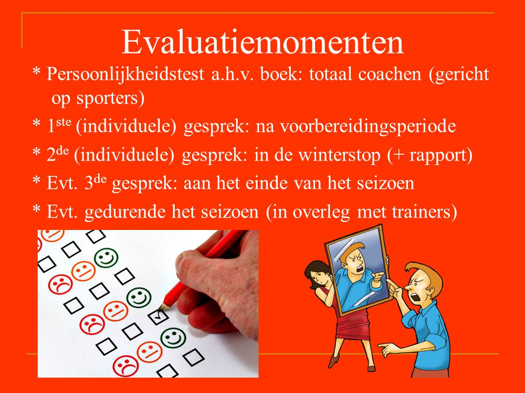Evaluatiemomenten