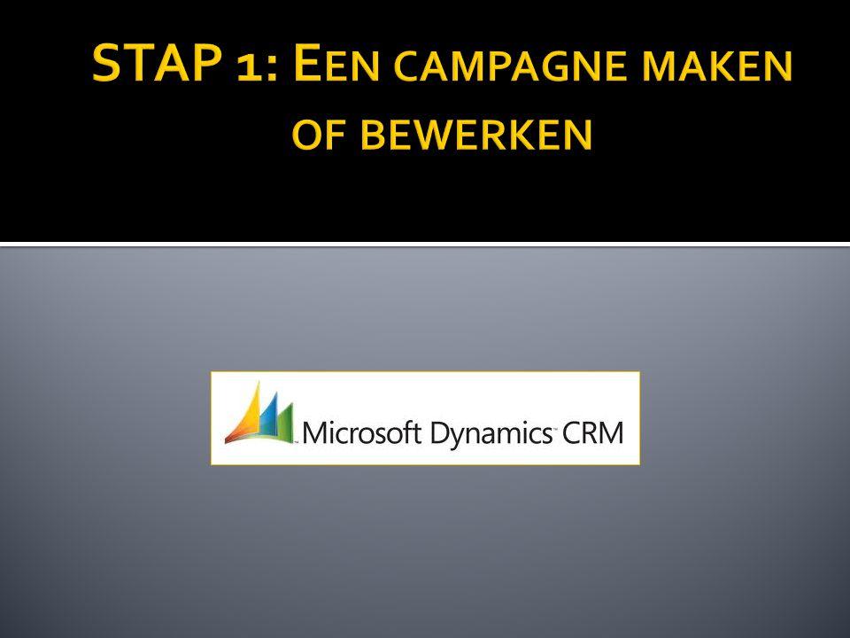 STAP 1: Een campagne maken of bewerken