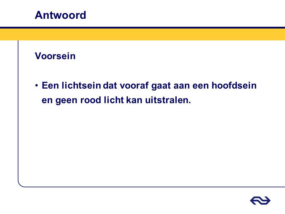 Antwoord Voorsein.