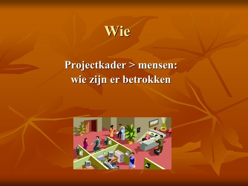 Projectkader > mensen: