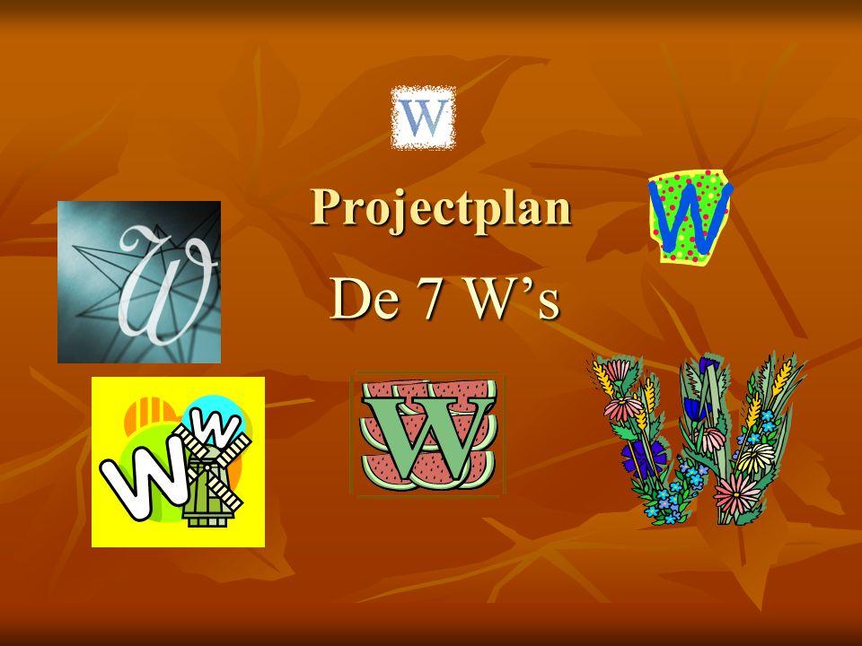 Projectplan De 7 W's