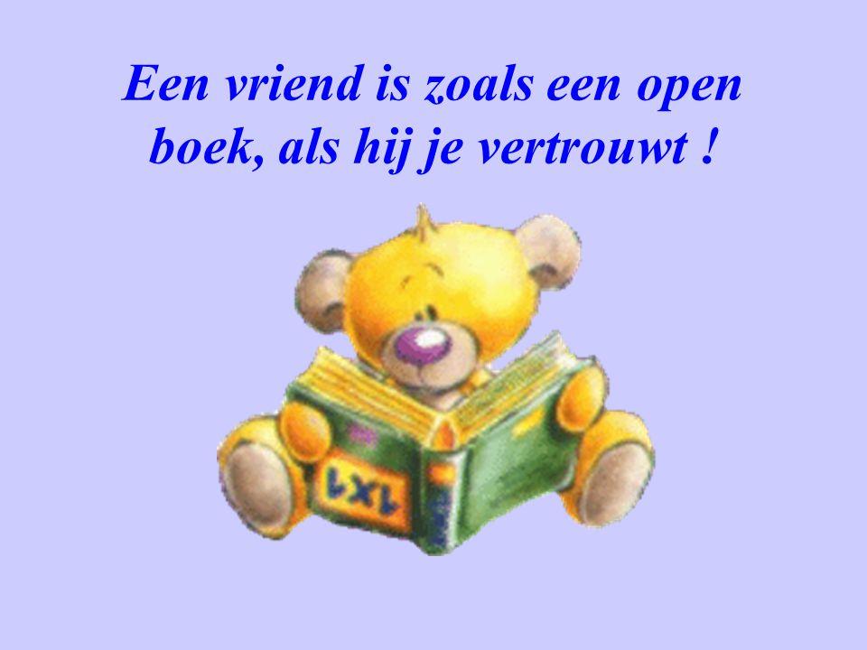 Een vriend is zoals een open boek, als hij je vertrouwt !
