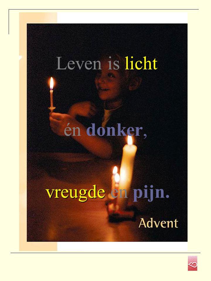 Leven is licht én donker, vreugde en pijn.