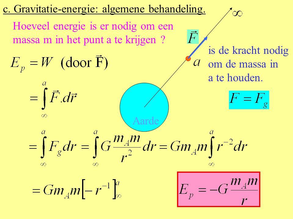 c. Gravitatie-energie: algemene behandeling.
