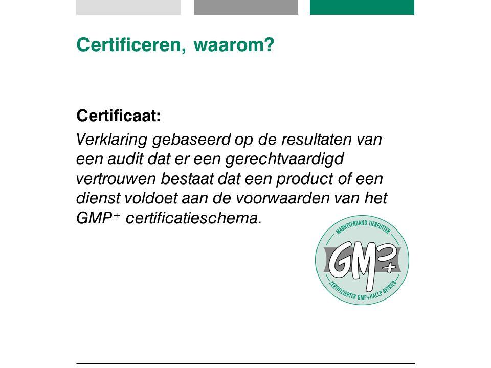 Certificeren, waarom Certificaat: