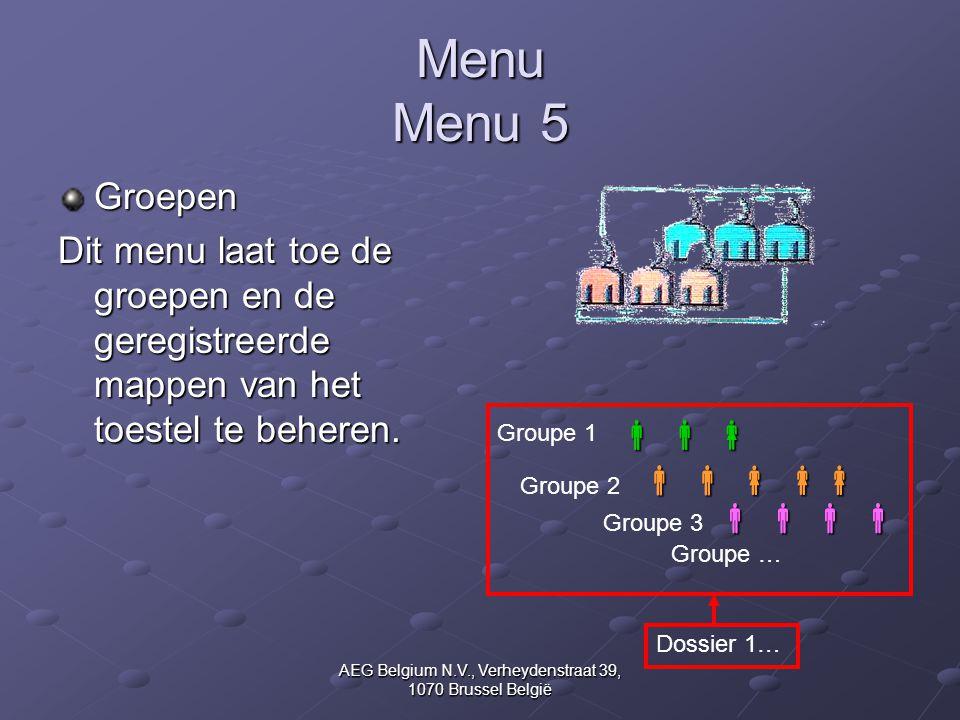 AEG Belgium N.V., Verheydenstraat 39, 1070 Brussel België