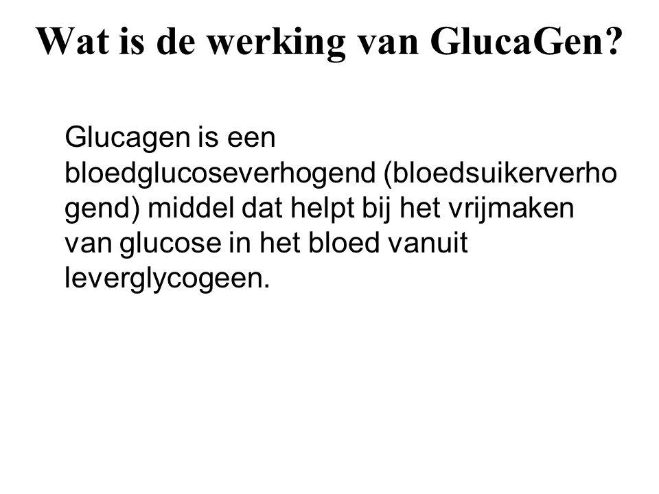 Wat is de werking van GlucaGen