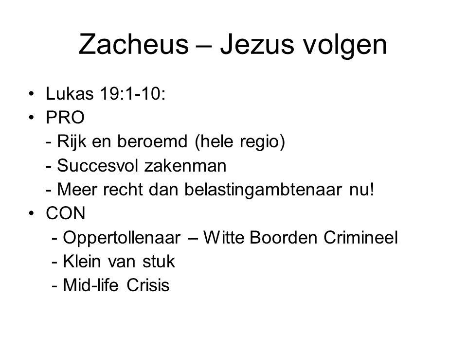 Zacheus – Jezus volgen Lukas 19:1-10: PRO