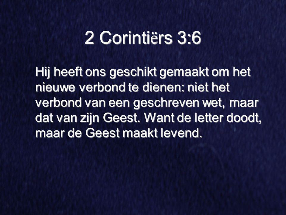 2 Corintiërs 3:6
