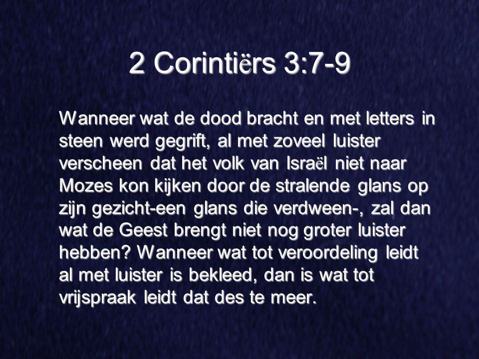 2 Corintiërs 3:7-9