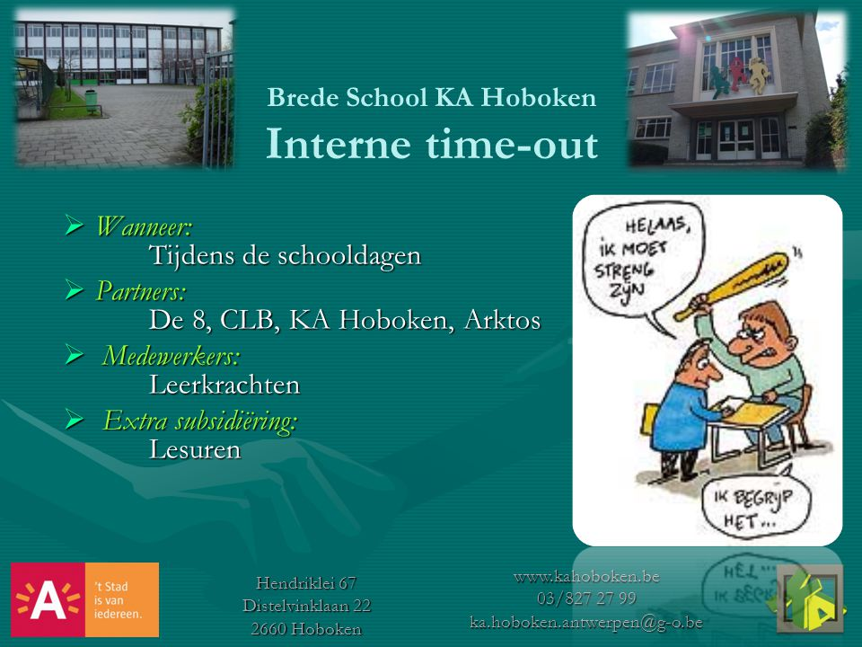 Brede School KA Hoboken Interne time-out