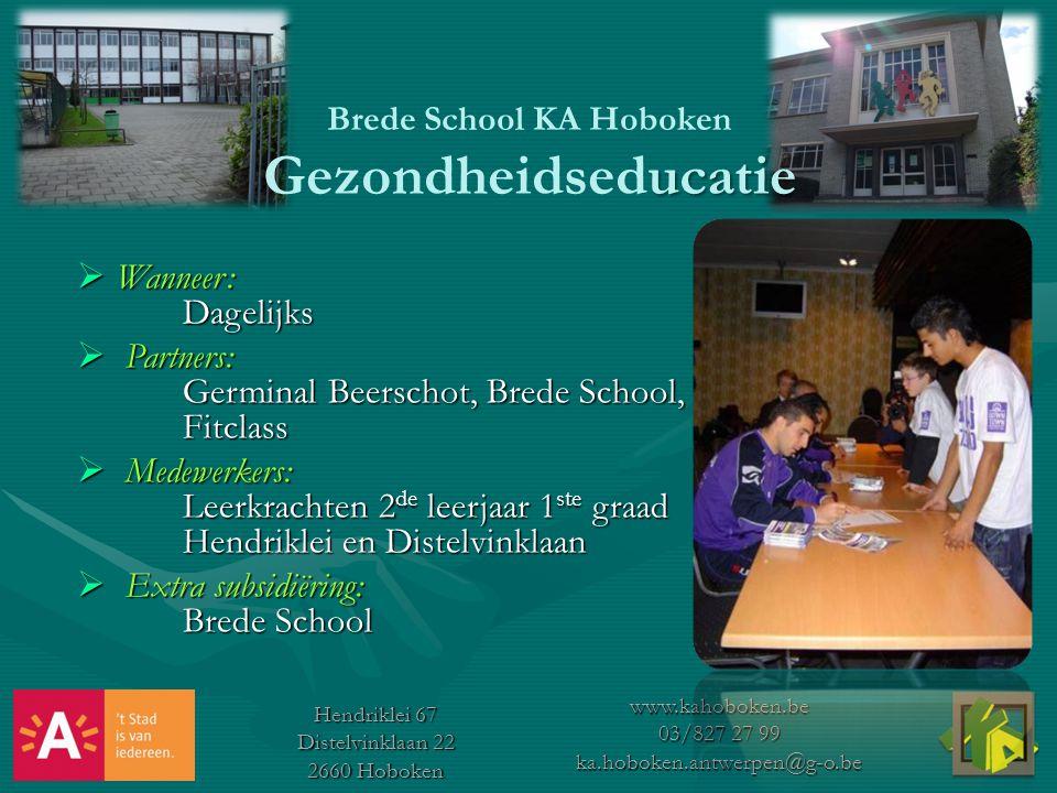 Brede School KA Hoboken Gezondheidseducatie
