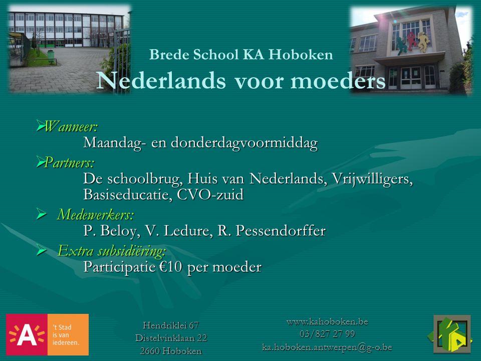Brede School KA Hoboken Nederlands voor moeders
