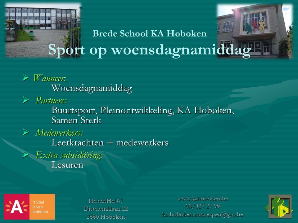 Brede School KA Hoboken Sport op woensdagnamiddag