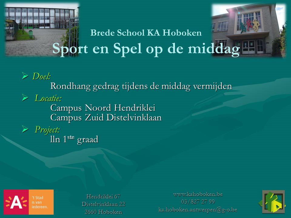 Brede School KA Hoboken Sport en Spel op de middag