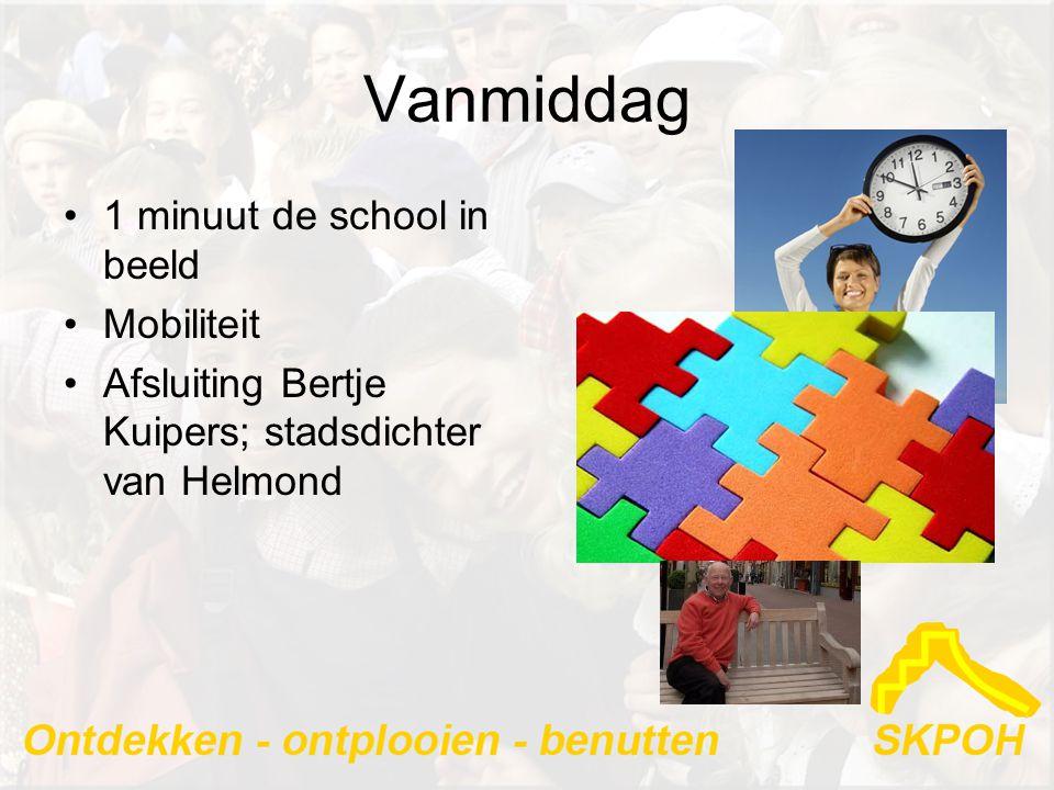 Vanmiddag 1 minuut de school in beeld Mobiliteit