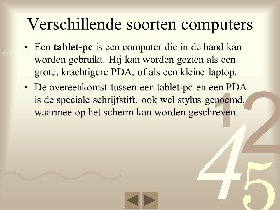 Verschillende soorten computers