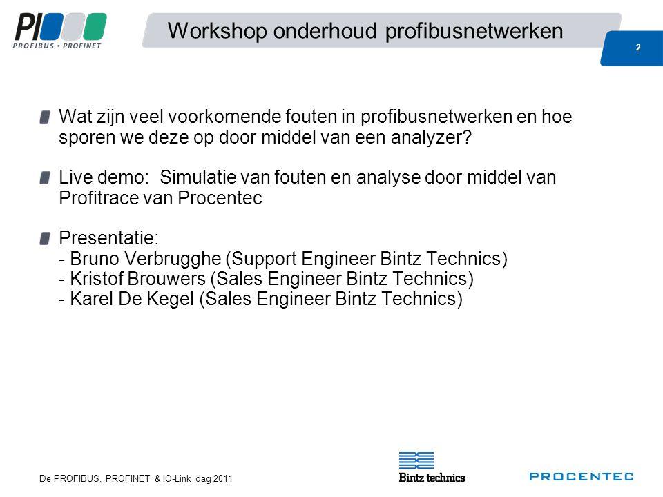 Workshop onderhoud profibusnetwerken