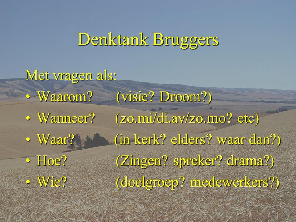 Denktank Bruggers Met vragen als: Waarom (visie Droom )