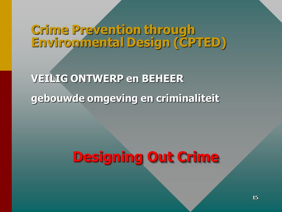 Crime Prevention through Environmental Design (CPTED)