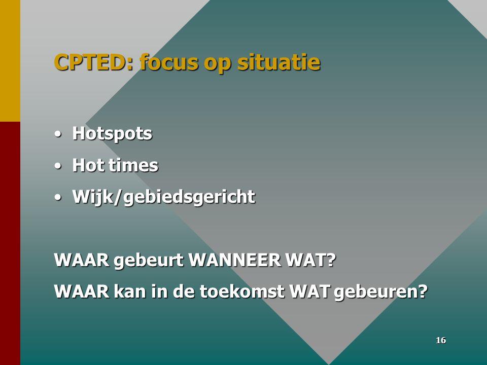 CPTED: focus op situatie