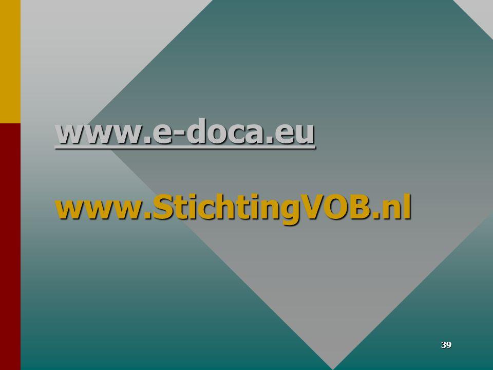 www.e-doca.eu www.StichtingVOB.nl