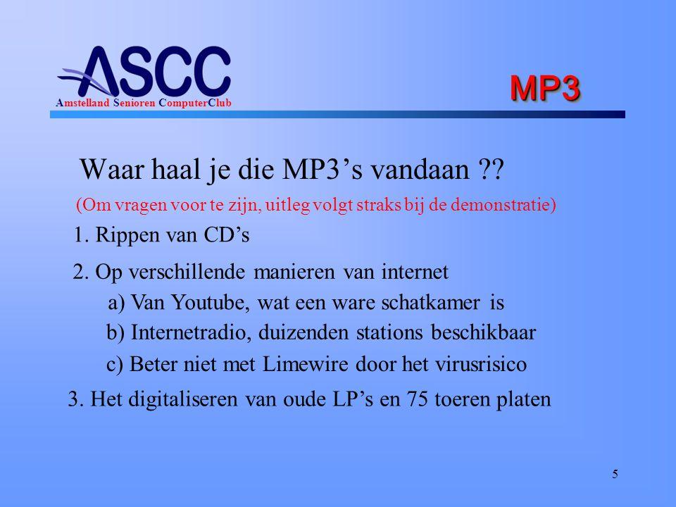 MP3 Waar haal je die MP3's vandaan 1. Rippen van CD's