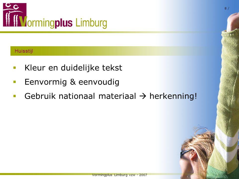 Vormingplus Limburg vzw - 2007
