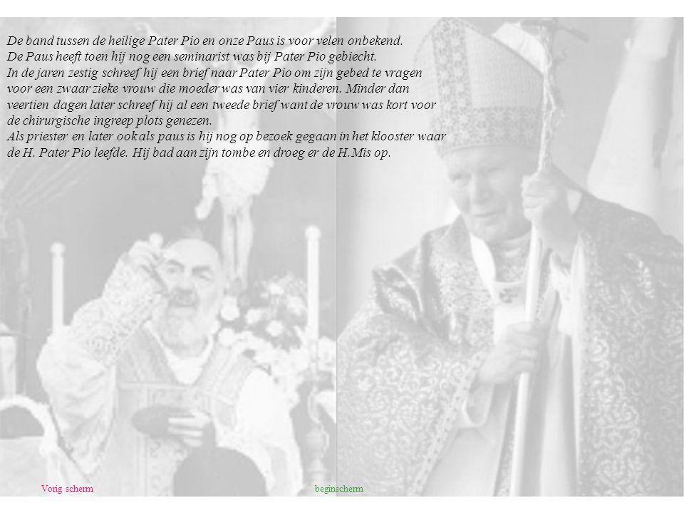 De Paus heeft toen hij nog een seminarist was bij Pater Pio gebiecht.