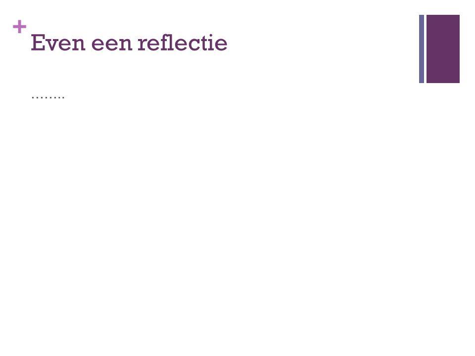 Even een reflectie …….. Iedereen gaat staan: