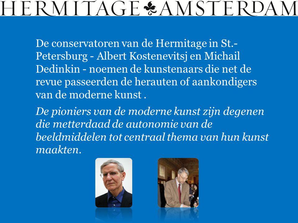 De conservatoren van de Hermitage in St