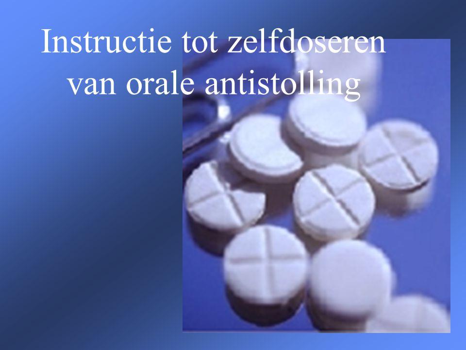 Instructie tot zelfdoseren van orale antistolling