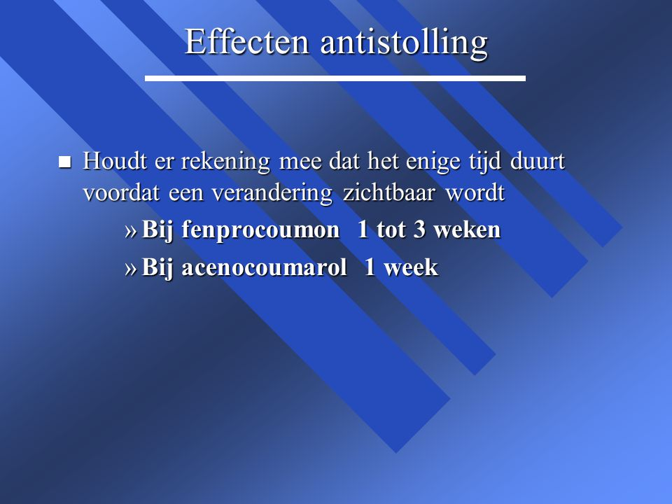 Effecten antistolling