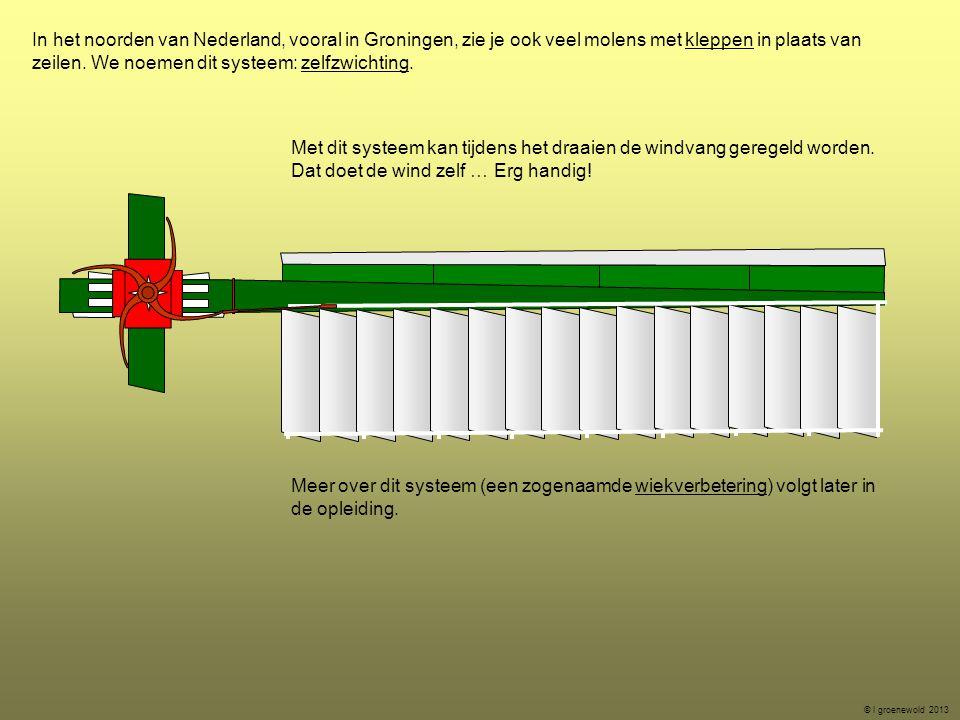 Met dit systeem kan tijdens het draaien de windvang geregeld worden.