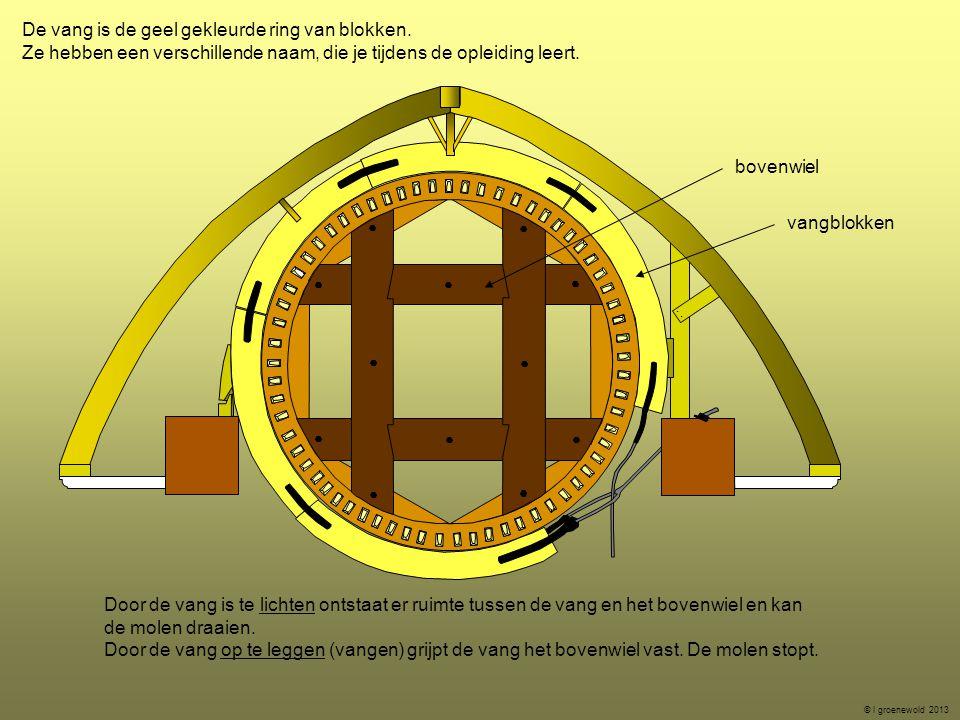 De vang is de geel gekleurde ring van blokken.