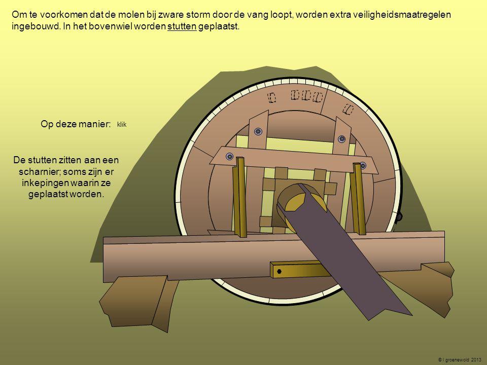ingebouwd. In het bovenwiel worden stutten geplaatst.