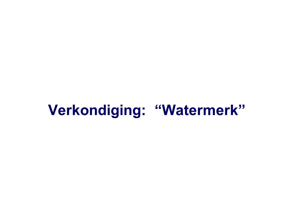 Verkondiging: Watermerk
