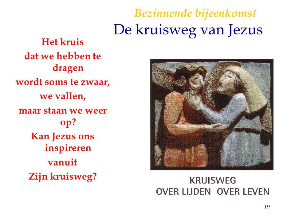 Bezinnende bijeenkomst De kruisweg van Jezus