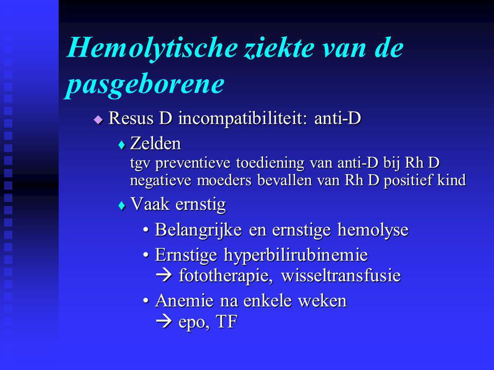 Hemolytische ziekte van de pasgeborene