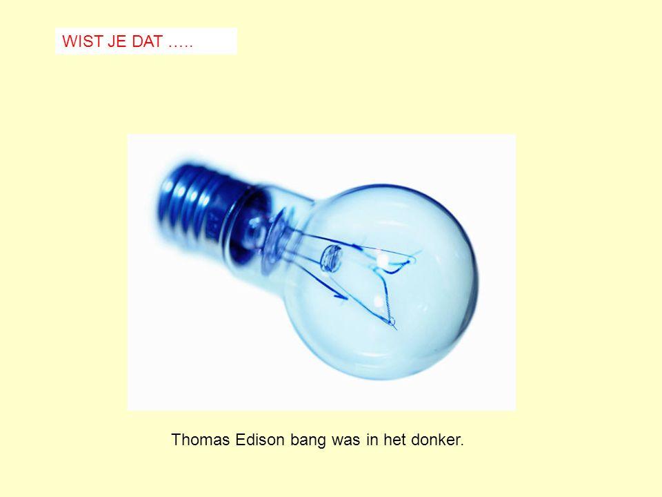 WIST JE DAT ….. Thomas Edison bang was in het donker.