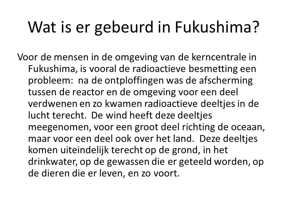Wat is er gebeurd in Fukushima