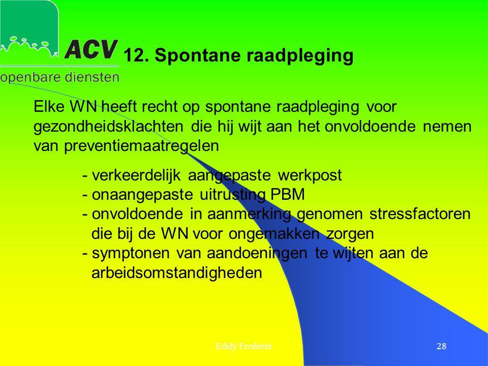 12. Spontane raadpleging