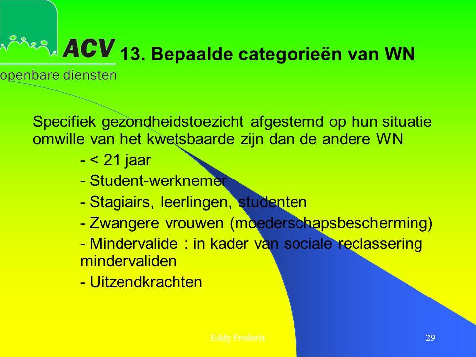 13. Bepaalde categorieën van WN